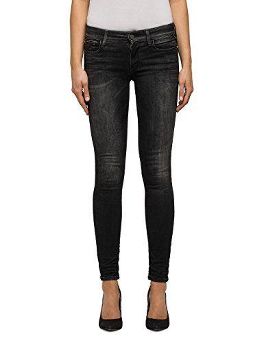 Black Denim Replay Damen Jeans Luz Schwarz Skinny Fit