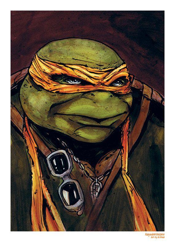 Michaelangelo Teenage Mutant Ninja Turtle Print