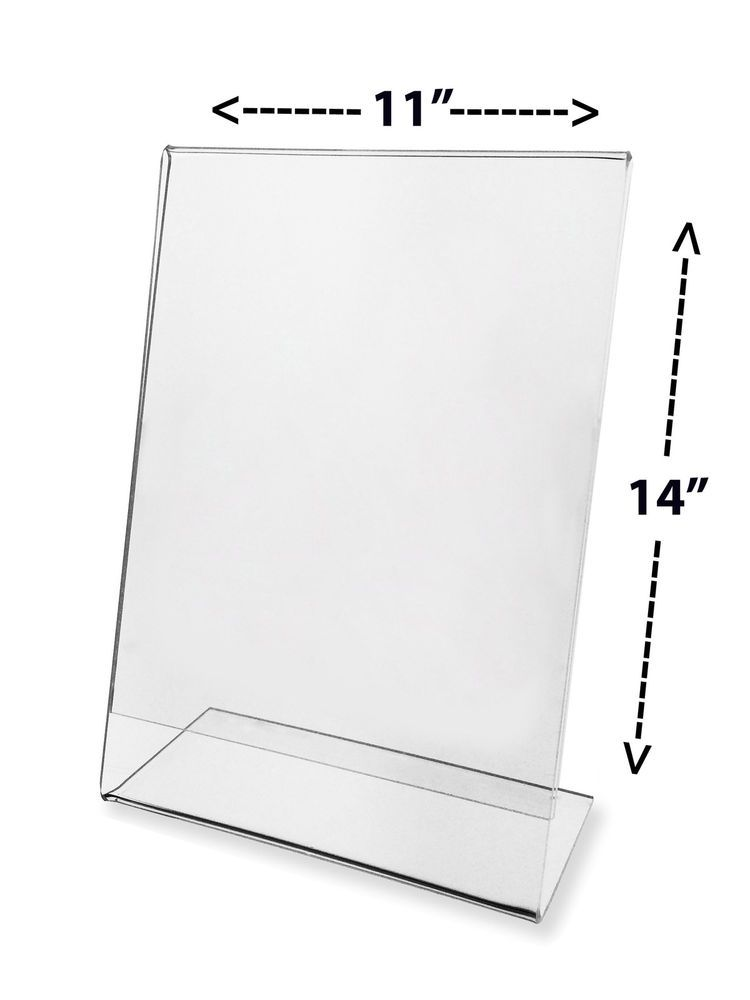 11 X 14 Table Tent Advertisement Flyer Display Counter Top Frame Marketingholders Sign Display Clear Picture Frames Postcard Holder