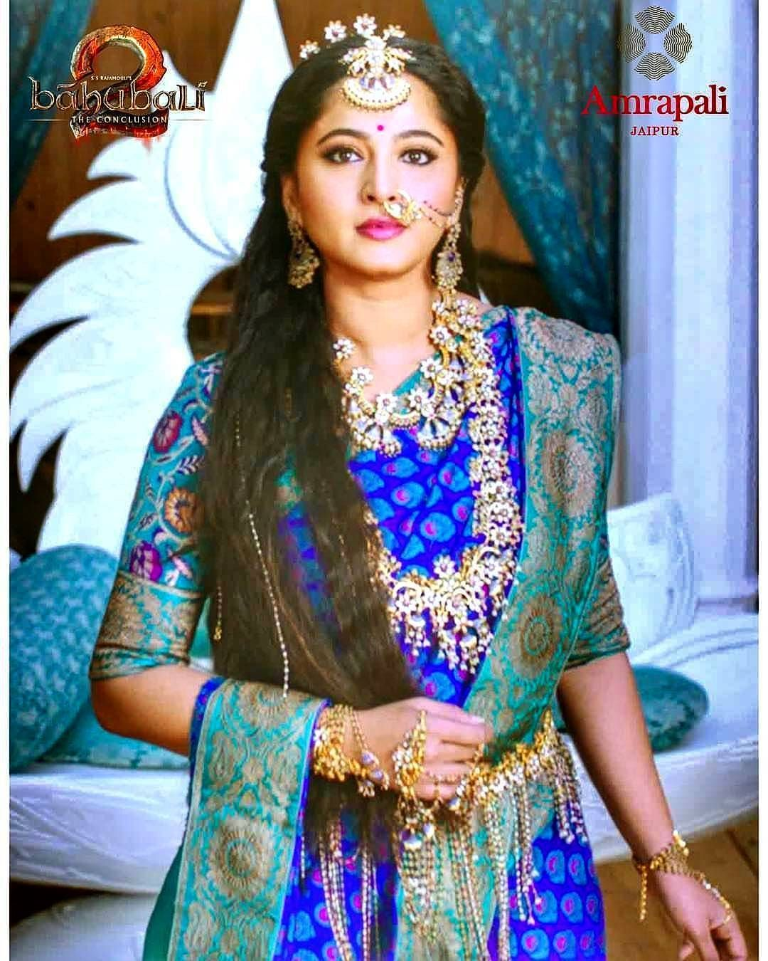 Anushkashettymysoul On Instagram The Royal Queen Devasena Bahubali2 Anushkashetty Anushkashetty Wedding Saree Collection Indian Dresses Saree Designs