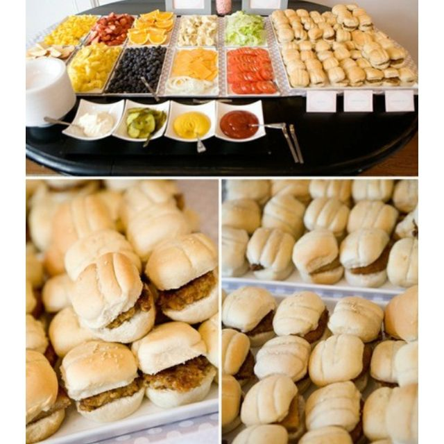 A MINI BURGER BAR This Is FABULOUS Idea So Great For Kids B Day Party I Might Have To Try Aprils Next And With The Float Bar Again