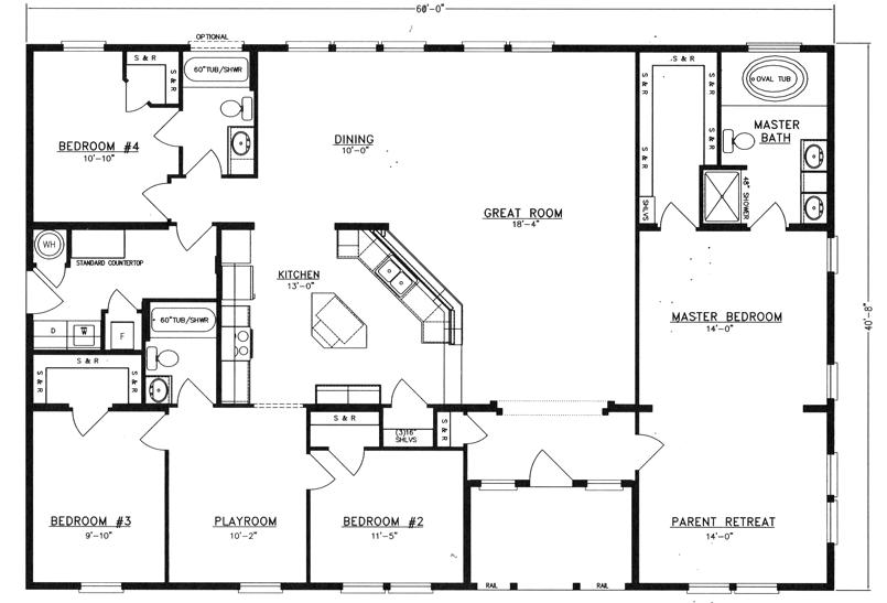 Metal 40x60 Homes Floor Plans Floor Plans I 39 D Get Rid Of The
