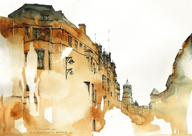Dreamy Architectural Watercolors By Sunga Park Watercolor