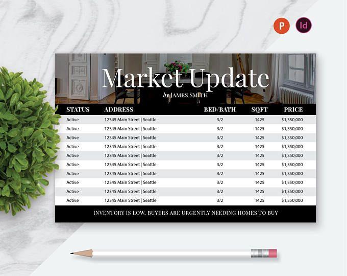 X Large Real Estate Postcard Template Market Update - Large postcard template