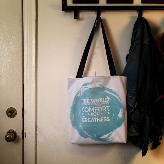The World Offers You Comfort, Quote Tote Bag— Free Shipping!