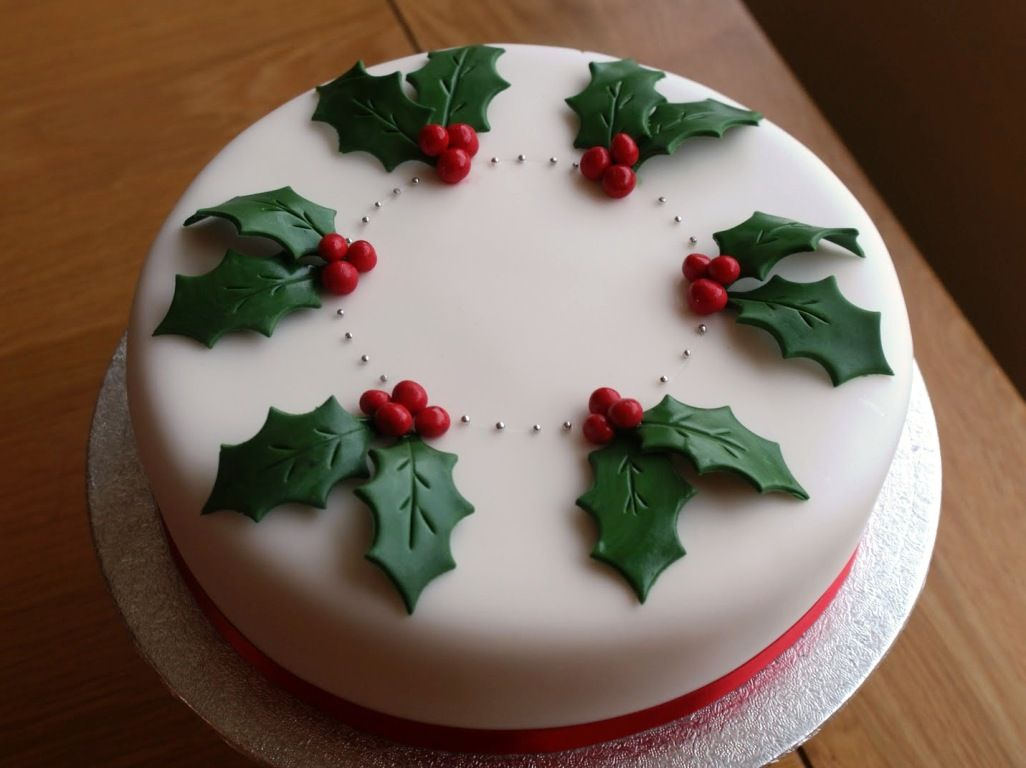 simple christmas cake decorating ideas
