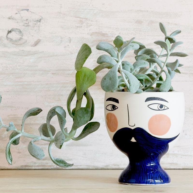 Mr Enzo Planter Face Planters Planters Face Vase
