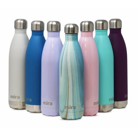MIRA Insulated Double Wall Vacuum Stainless Steel Water Bottle 25oz Teal Granite