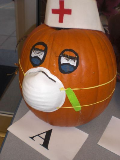 Image detail for - Nurse Pumpkin Halloween/October Pinterest - office halloween decorating ideas