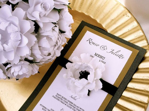 Anemone Wedding Menu Cards  designed  by DragonflyExpression