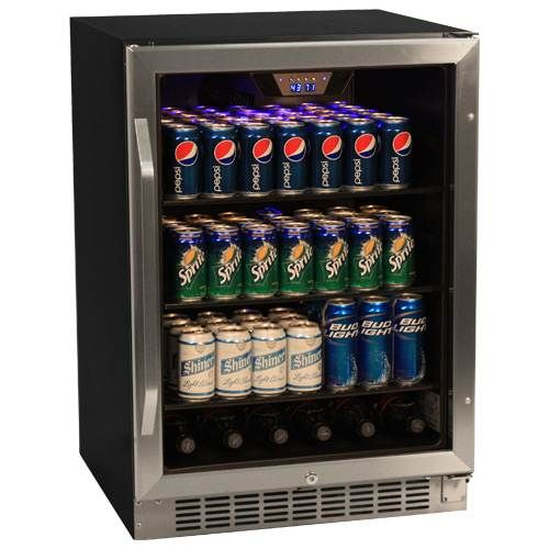 Edgestar 148 Can Stainless Steel Beverage Cooler Built In Beverage Cooler Beverage Cooler Beer Refrigerator