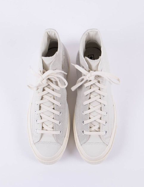 688f34d36259 Converse Egret Suede Leather Chuck Taylor All Star 70s Hi