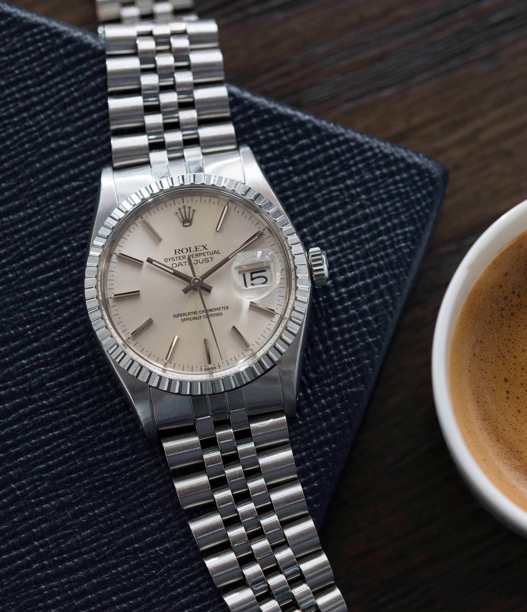 f798270ca54 Rolex Datejust 16030 steel automatic silver dial watch Jubilee bracelet at  A Collected Man London