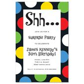 Party dot surprise birthday party invitations 16003 30th party dot surprise birthday party invitations 16003 stopboris Images