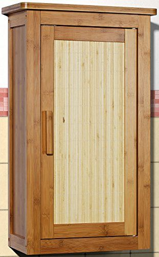 Hängeschrank Badezimmermöbel Massivholz Badezimmer-Schrank Bambus - badezimmer bambus