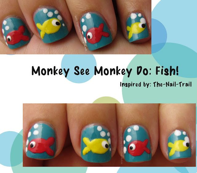 attempt at copying a mani from Pinterest :) monkey see monkey do mondays