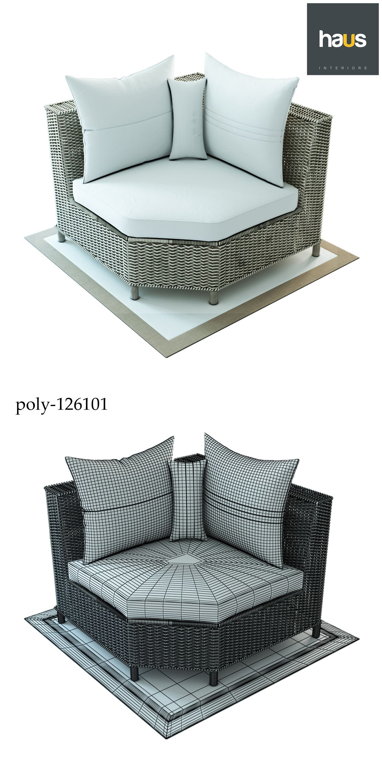 Haus Interior Corner Armchair Made Of Woven Rattan With Images Rattan Armchair