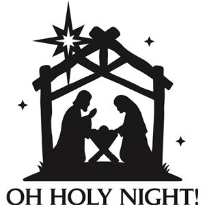 Declarative image with nativity clipart free printable