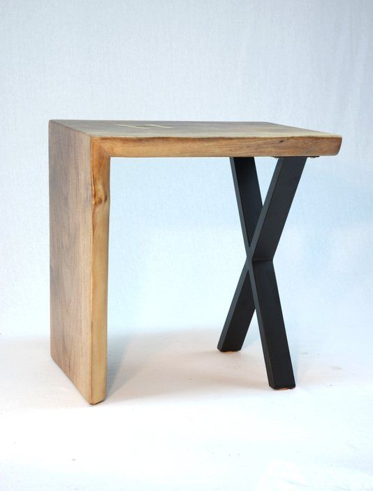 Delicieux Custom Made Asymmetric Waterfall Slab End Table