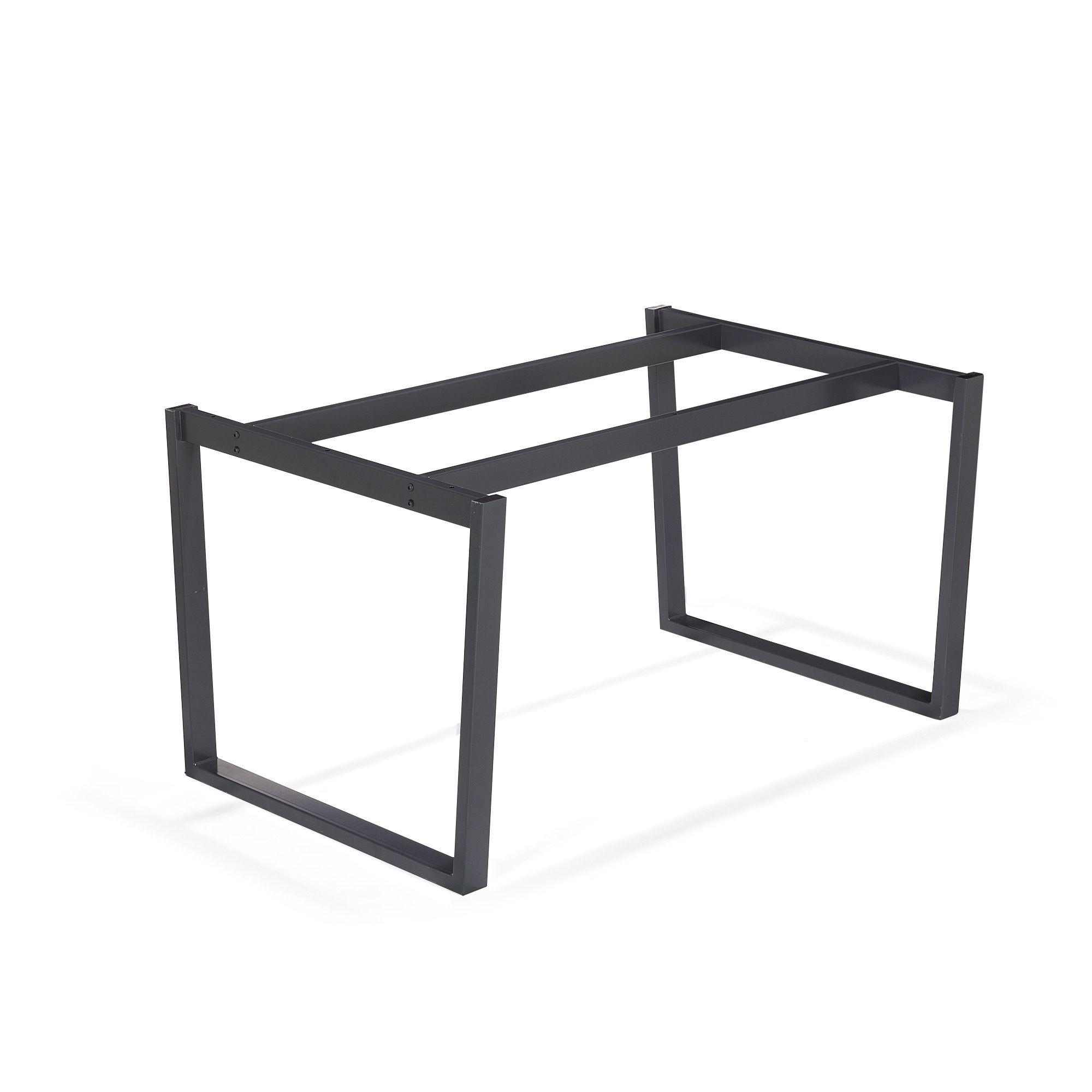 piétement en acier noir noir - vario moma - tables rectangulaires