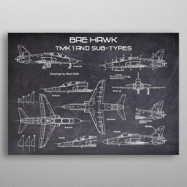 BAE HAWK by FARKI15 DESIGN | metal posters - Displate | Displate thumbnail