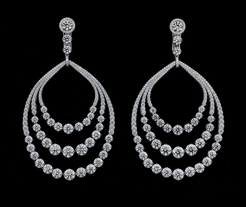 Diamond Drop Evi Earrings 25 Carats By Jay Carlile