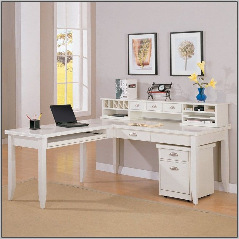 L Shaped Desk With Hutch Ikea Varidesk starting at 17500