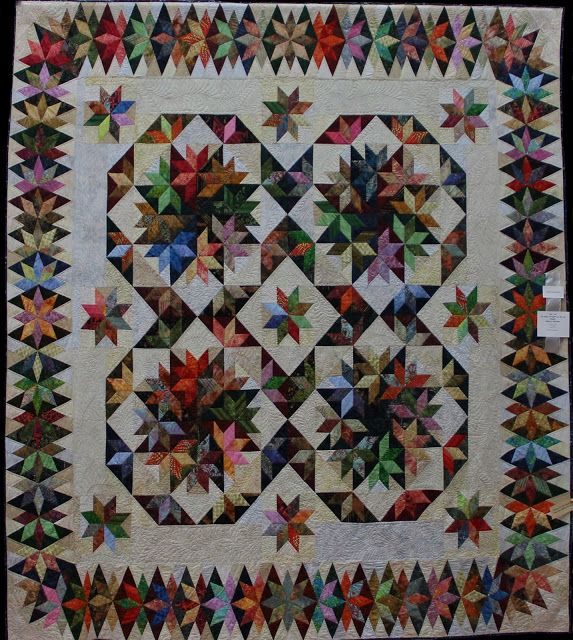 Capistrano, designed by Judy Martin, made by Sue Garman. The pattern appears in Judy's book, Stellar Quilts.