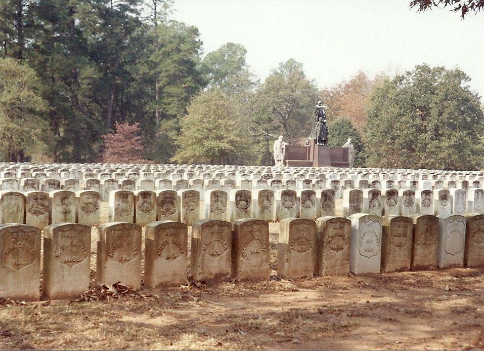 Site: Andersonville Prison in Georgia. Cemetery for 13,000 Union soldiers.