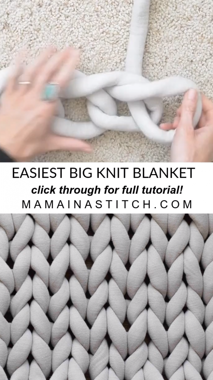Easiest Method - Big Knit Blanket This awesome fre