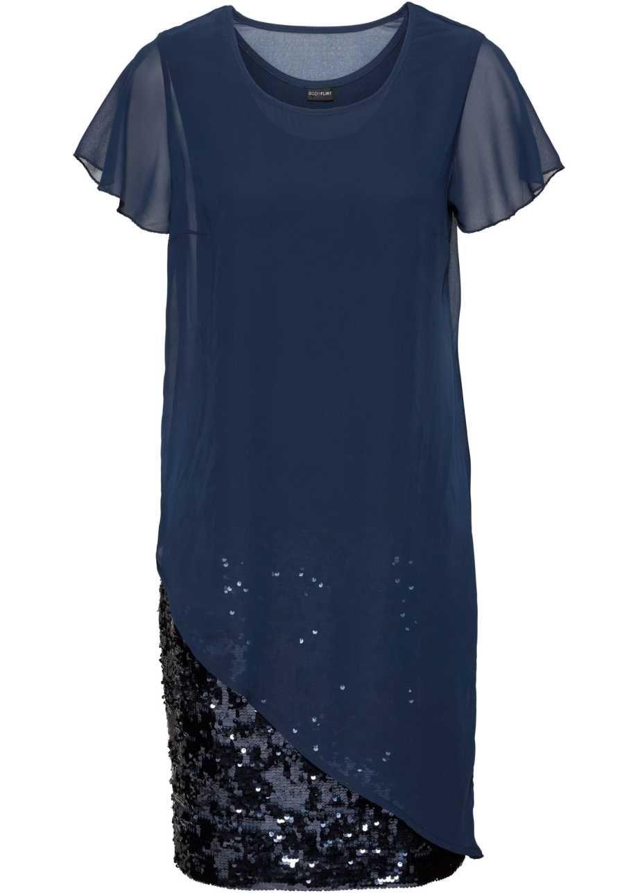 Cocktail-Kleid aus Jersey mit Pailletten, BODYFLIRT ...