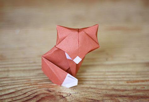 diy petit renard en papier origami diy origami manualidades origami et sobres de papel. Black Bedroom Furniture Sets. Home Design Ideas