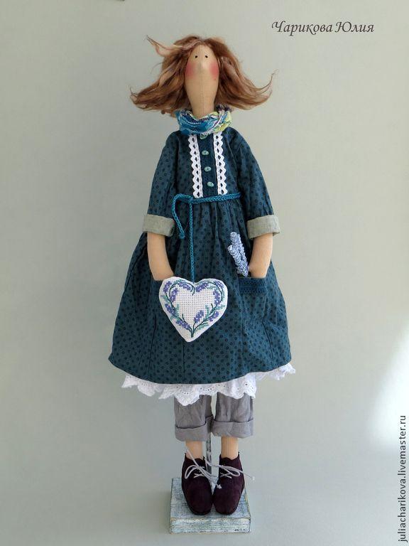 Купить Цветы Прованса 3 - морская волна, тильда кукла, бохо-стиль