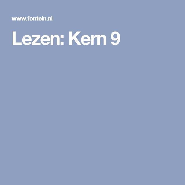 Lezen: Kern 9