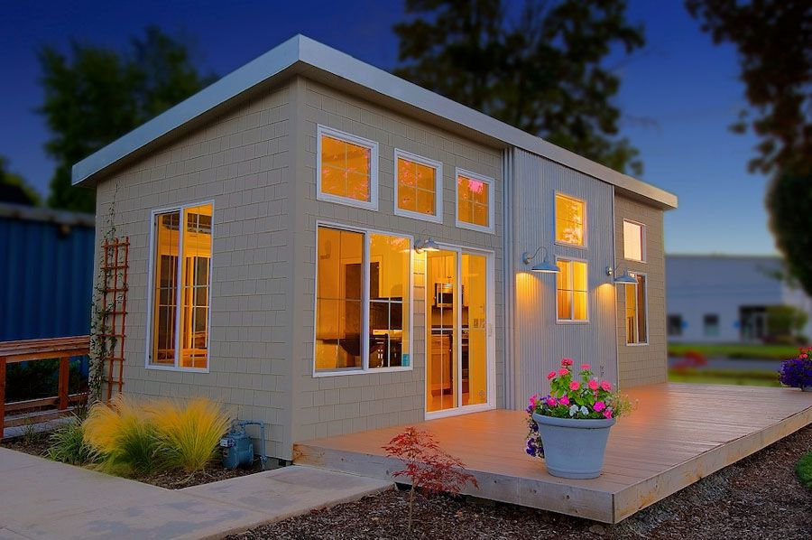 17 Best ideas about Small Prefab Cabins on Pinterest Container