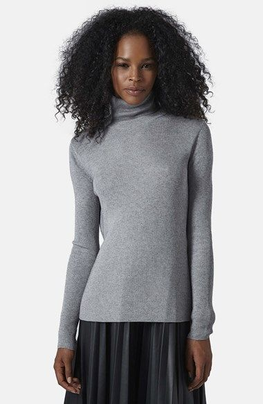 5651f416a8f3 Topshop Ribbed Turtleneck Sweater available at  Nordstrom