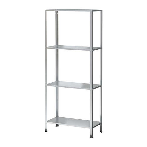Ikea Hyllis Shelving Unit Suitable For Both Indoor And Outdoor Use The Included Plastic Feet Protect Floor Against Scratching