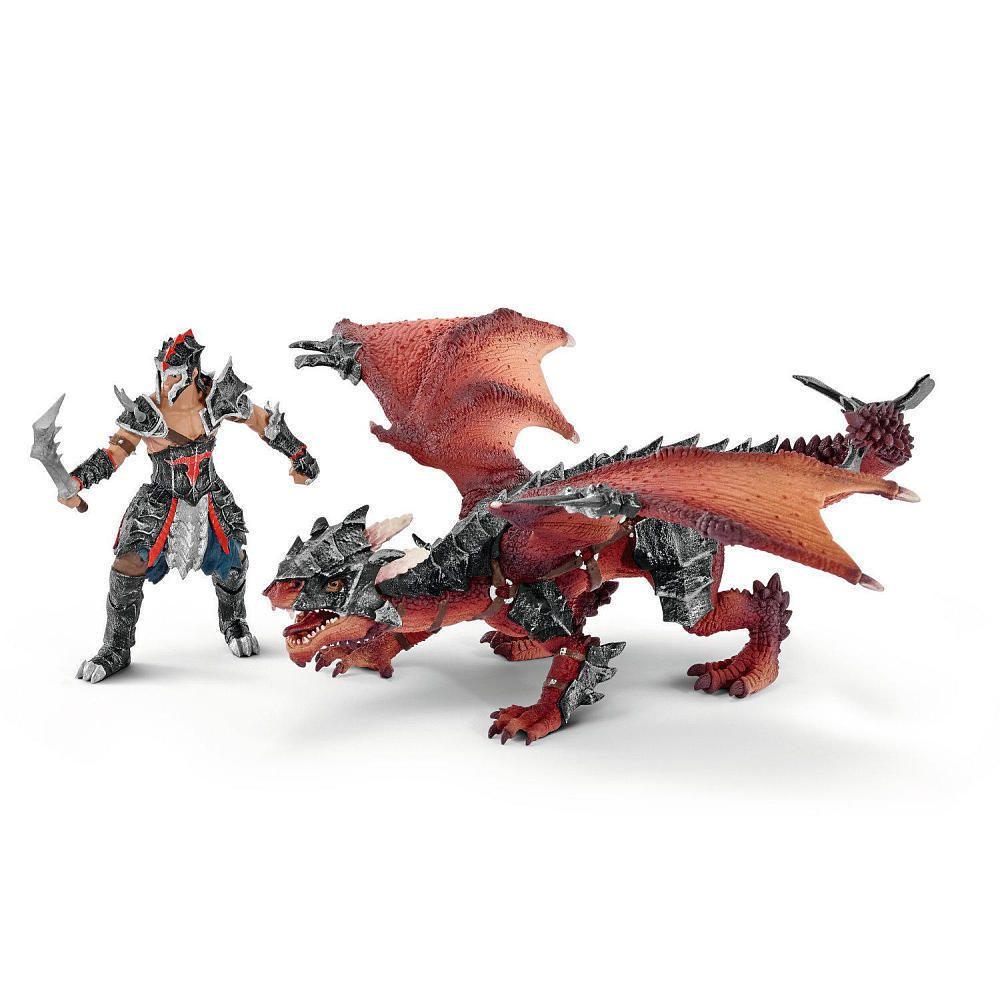 "Multi-Colour Papo /""Dragon Warrior Figure"