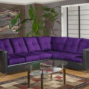 Julia Modern Sectional Color Bulldozer Eggplant / San Marino Black $759.99 by Wayfair : eggplant sectional sofa - Sectionals, Sofas & Couches