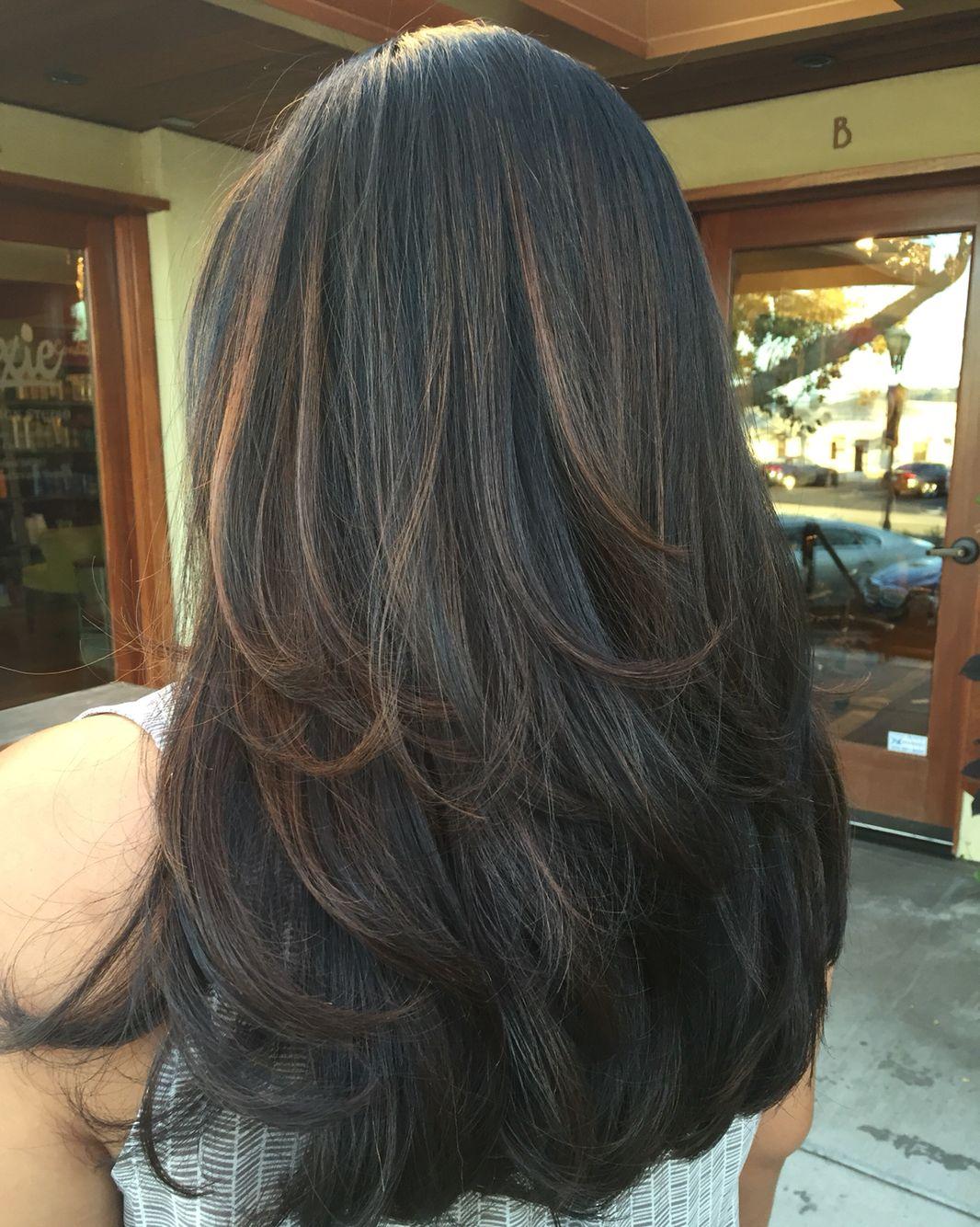 Caramel highlights for fall by amanda scott posh salon hair