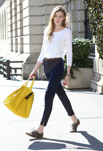 yellow oversized bag/ simple fashion