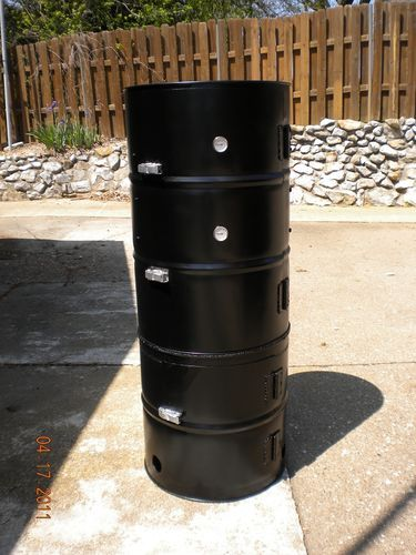 vertical drum smoker cookin with fire pinterest drum. Black Bedroom Furniture Sets. Home Design Ideas