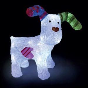 The Snowdog LED Lit Acrylic Figure 31cm