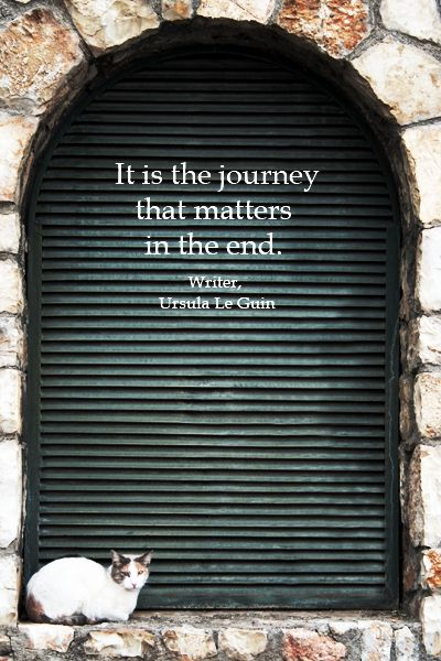 the journey is the reward...