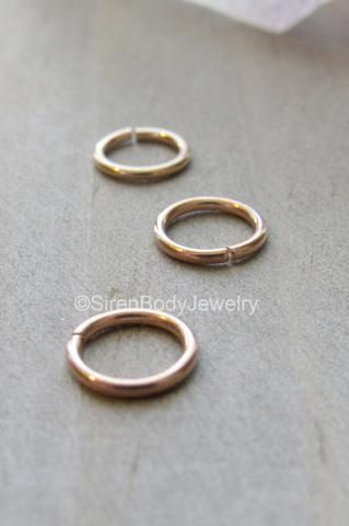 e70e458a6 Rose gold tragus earring hoop 18g nose ring forward helix cartilage  piercing rings tiny septum ring daith ear loop body jewelry 20g seam 1