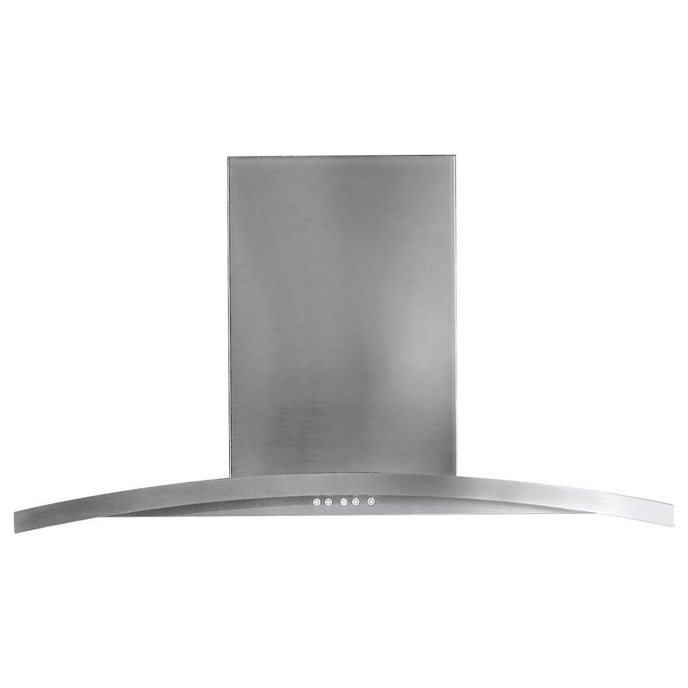Ge Profile 36 In Designer Ran Hood In Stainless Steel Silver Stainless Range Hood Steel Wall Stainless Steel