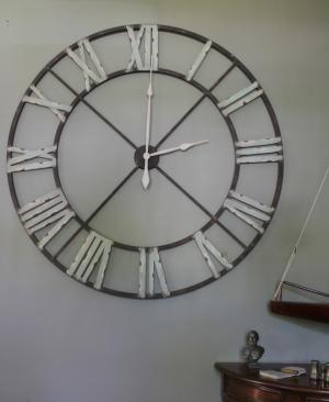 Extra Large Skeleton Clock Large Wall Clock Decor Large Iron