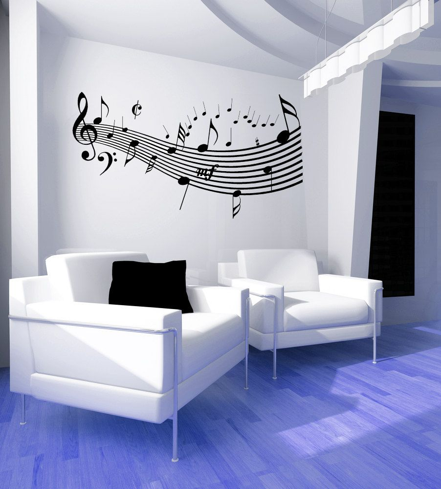 Music Decor, Music Decorations, Music Decal, Music Notes Decal ...