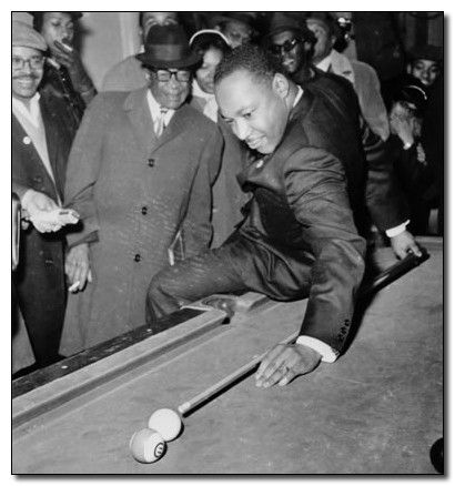 MLK shooting pool. This is the single most badass picture I've ever seen.