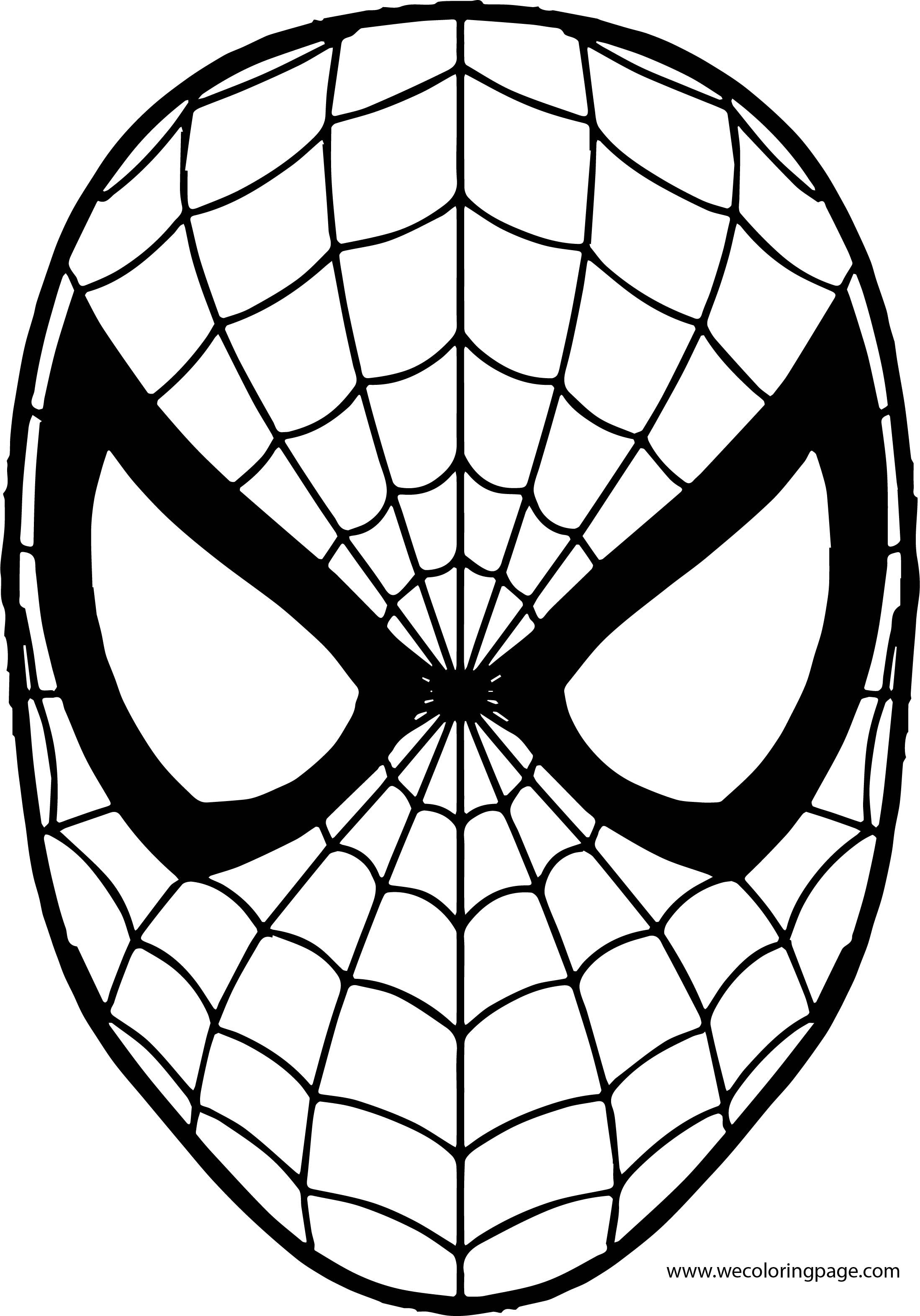 Spiderman Mask Coloring Page Kreativne